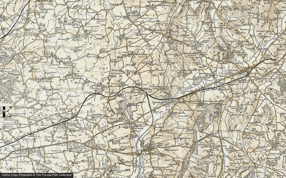 Old Map of Feniton, 1898-1900 in 1898-1900