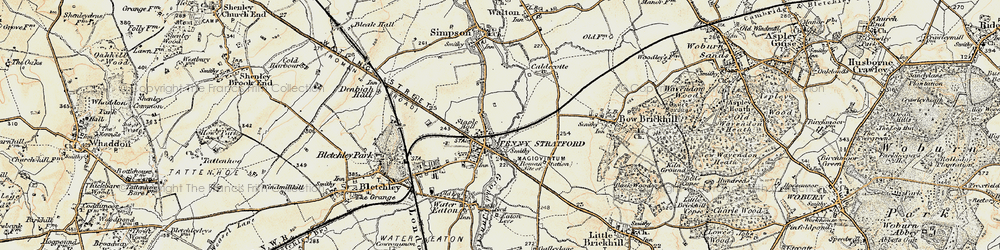 Old map of Fenny Stratford in 1898-1901