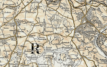 Old map of Fenton Pits in 1900