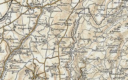 Old map of Fentonadle in 1900