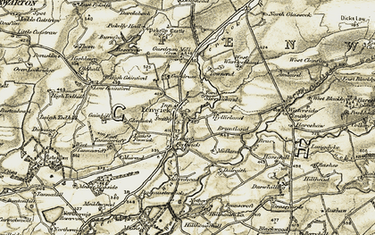 Old map of Wyllieland in 1905-1906