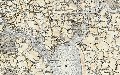 Old map of Feock in 1900