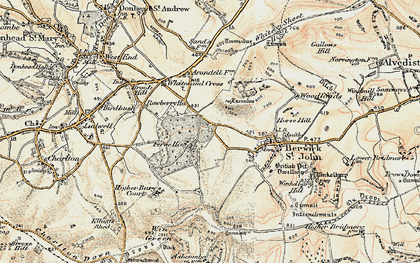 Old map of Win Green in 1897-1909