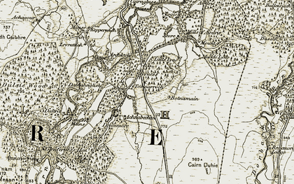 Old map of Ballindore in 1908-1911