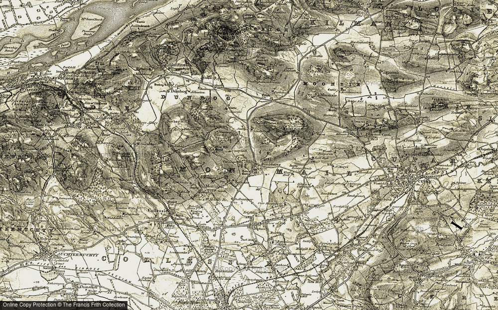 Old Map of Historic Map covering Lindifferon in 1906-1908