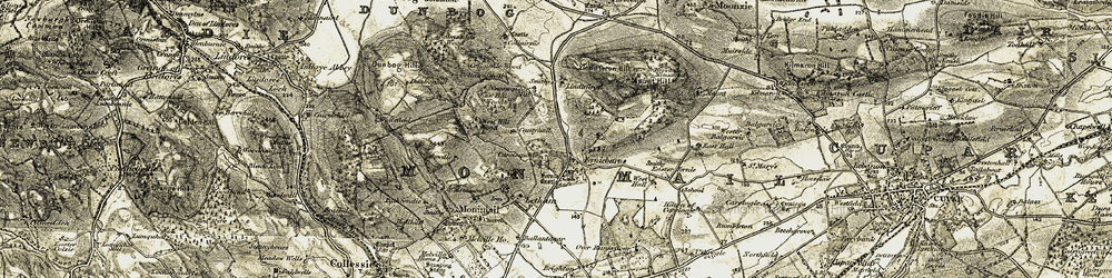 Old map of Lindifferon in 1906-1908