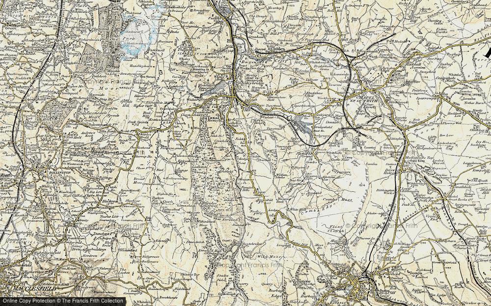 Old Map of Fernilee, 1902-1903 in 1902-1903