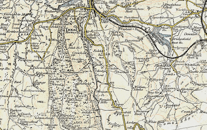 Old map of Wythen Lache in 1902-1903