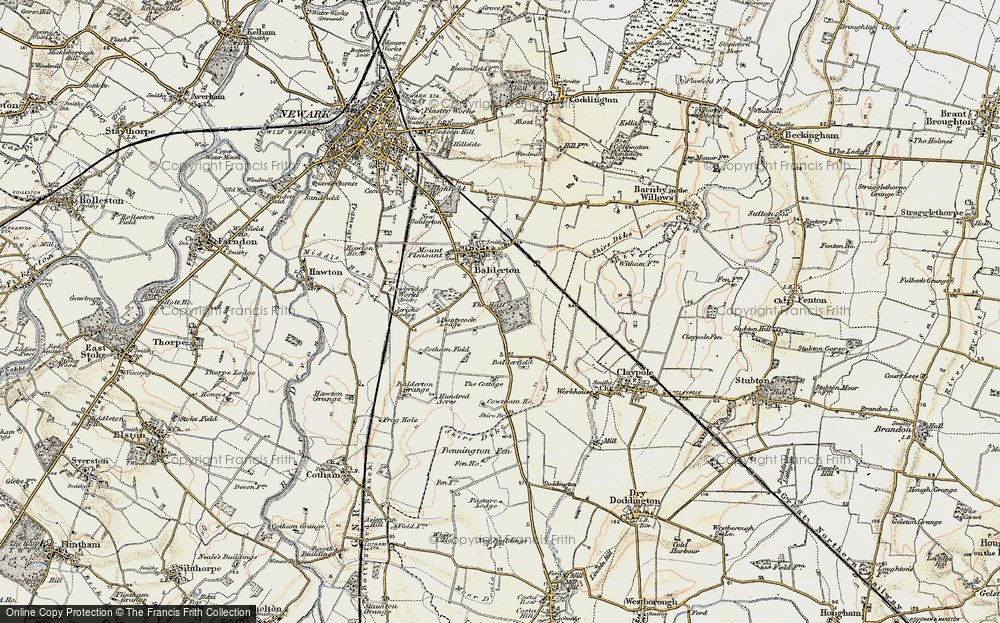 Old Map of Historic Map covering Balderfield in 1902-1903