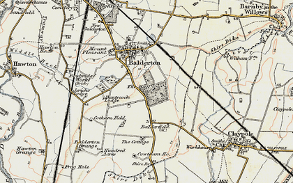 Old map of Balderfield in 1902-1903