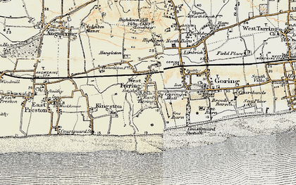 Old map of Ferring in 1898
