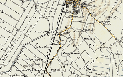Old map of Acre Fen in 1901