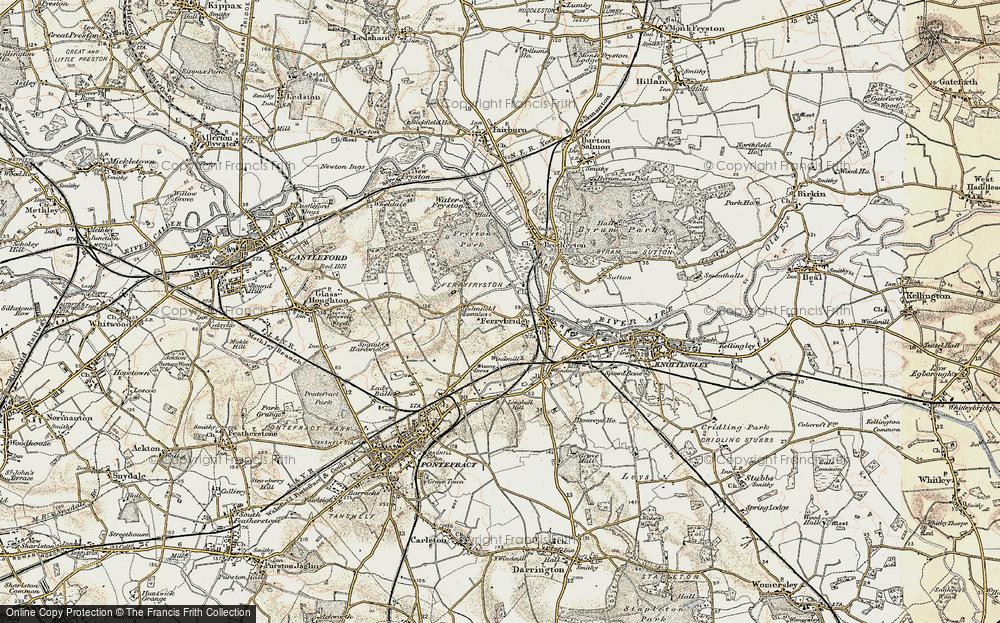 Old Map of Ferrybridge, 1903 in 1903