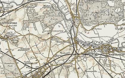Old map of Ferrybridge in 1903
