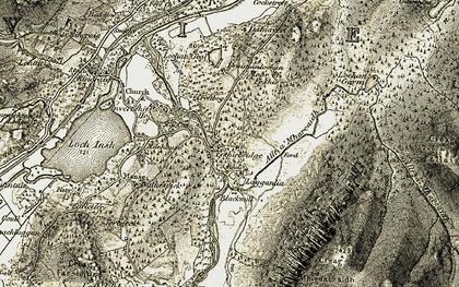 Old map of Feshiebridge in 1908
