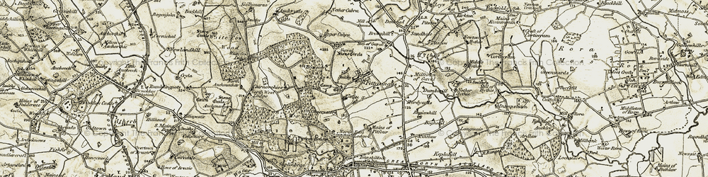 Old map of White Cow Wood in 1909-1910