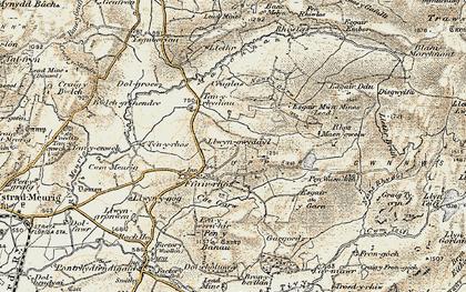 Old map of Y Felin Fach in 1901-1903
