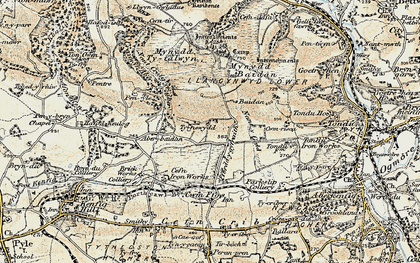 Old map of Ton Philip in 1900-1901