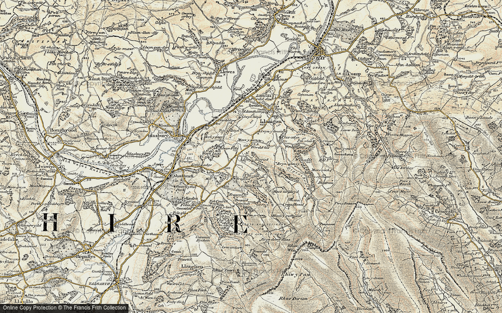 Old Map of Historic Map covering Allt Wood in 1900-1902