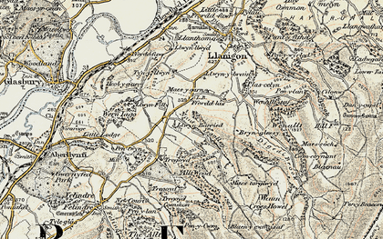 Old map of Allt Wood in 1900-1902