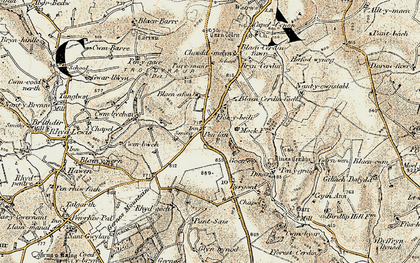 Old map of Wstrws in 1901