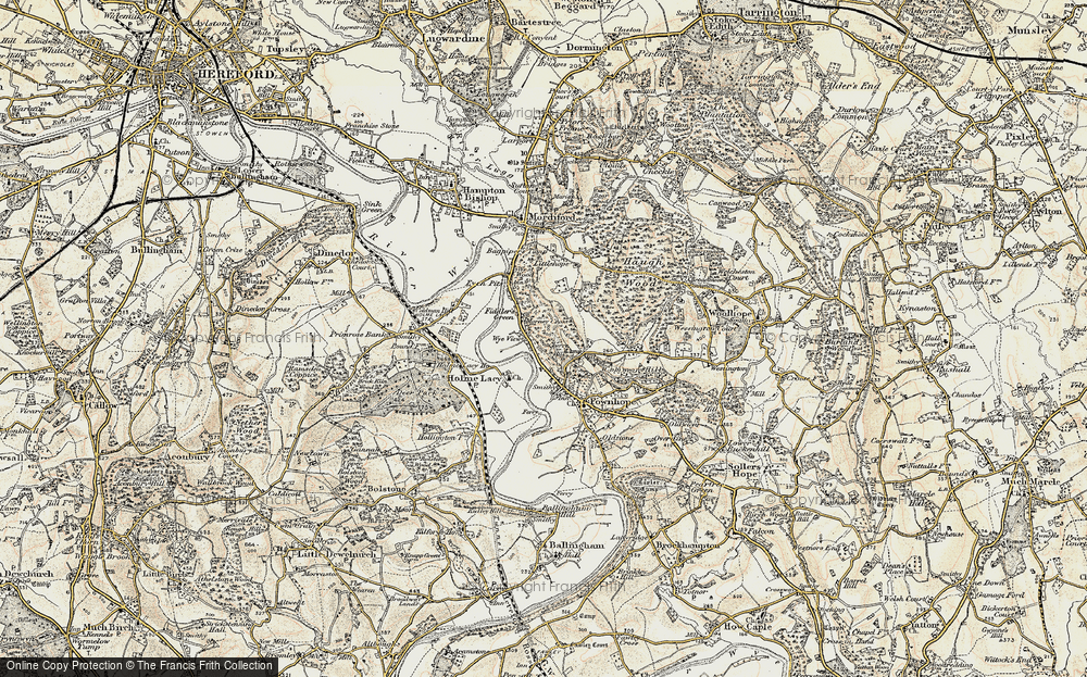 Old Map of Historic Map covering Wood View in 1899-1901
