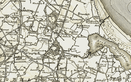Old map of Woodside in 1909-1910