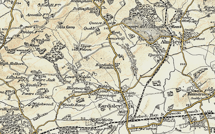 Old map of Lemore Manor in 1900-1901