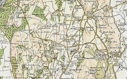 Old map of Field Broughton in 1903-1904