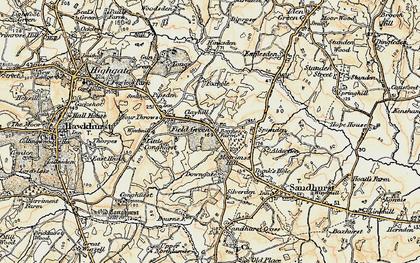 Old map of Alderden Manor in 1898