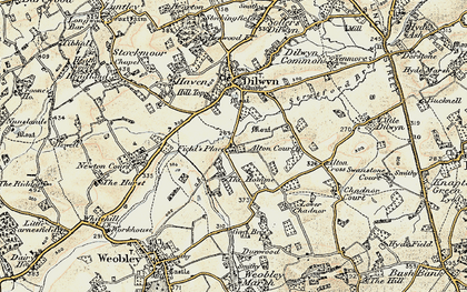 Old map of Alton Cross in 1900-1901