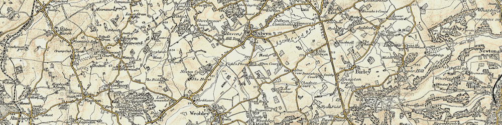 Old map of Alton Court in 1900-1901