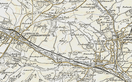 Old map of Fields End in 1898