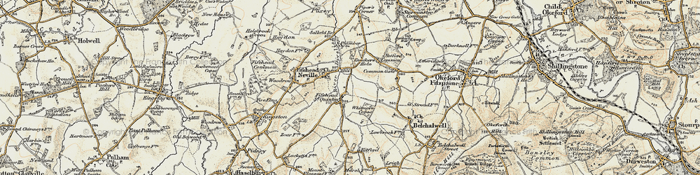 Old map of Whitmore Coppice in 1897-1909