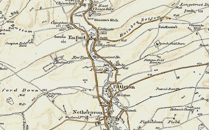 Old map of Fifield in 1897-1899