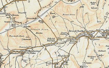 Old map of Fifield Bavant in 1897-1909