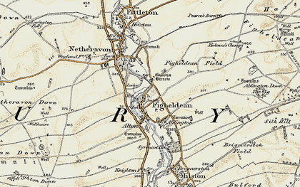 Old map of Ablington Furze in 1897-1899