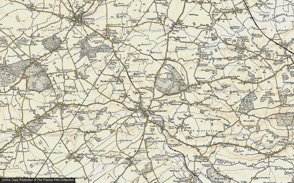 Old Map of Historic Map covering Back Br in 1898-1899