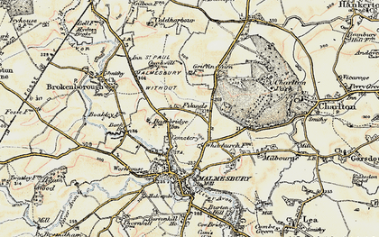 Old map of Back Br in 1898-1899