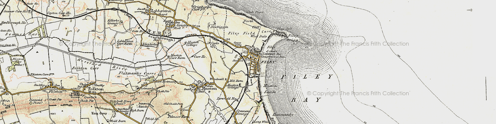 Old map of Filey in 1903-1904
