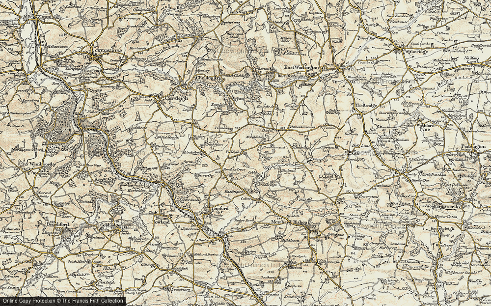 Old Map of Historic Map covering Lewdon in 1899-1900