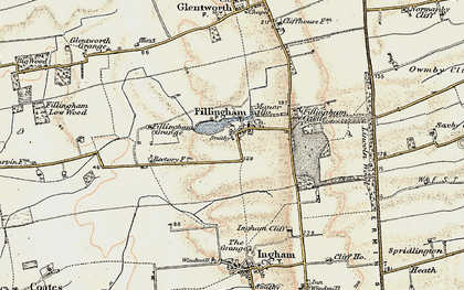 Old map of Ancholme Head in 1902-1903