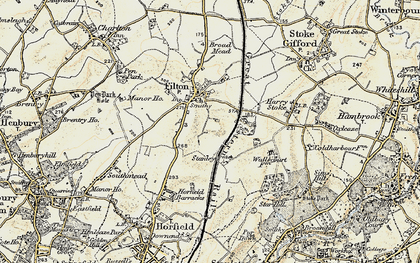 Old map of Filton in 1899