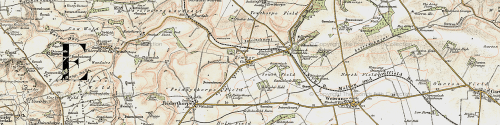 Old map of Westfield in 1903-1904