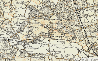 Old map of Finchampstead in 1897-1909