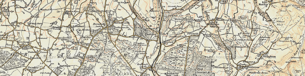 Old map of Woodhouse in 1897-1899