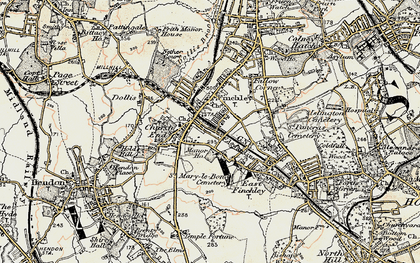 Old map of Finchley in 1897-1898