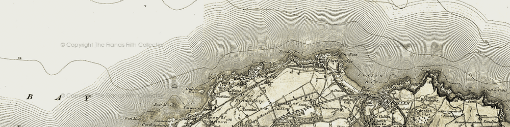Old map of Findochty in 1910