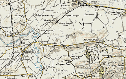 Old map of Whitrigglees in 1901-1904