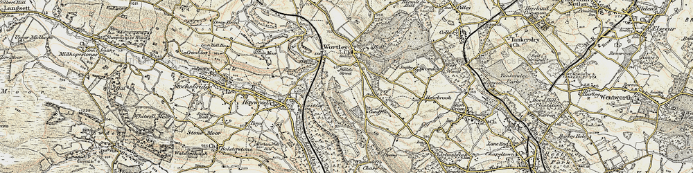 Old map of Wharncliffe Resr in 1903